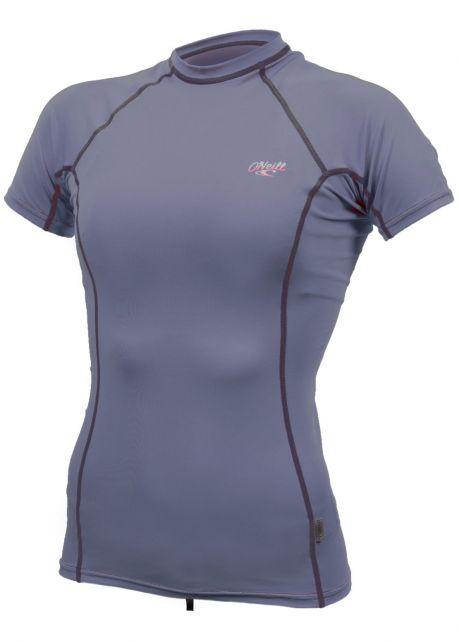 O'Neill---UV-Shirt-für-Damen---kurzärmlig---Premium-Rash---Nebelblau