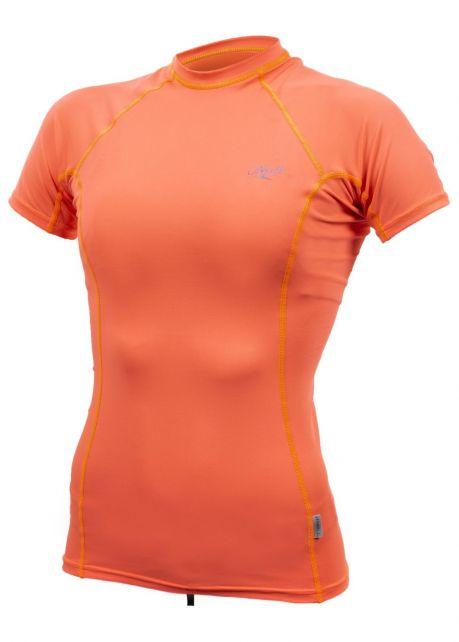 O'Neill---UV-Shirt-für-Damen---kurzärmlig---Premium-Rash---Papaya