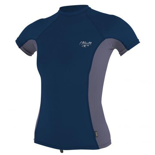 O'Neill---Damen-UV-Shirt---Kurzarm---Dunkelblau-/-Grau