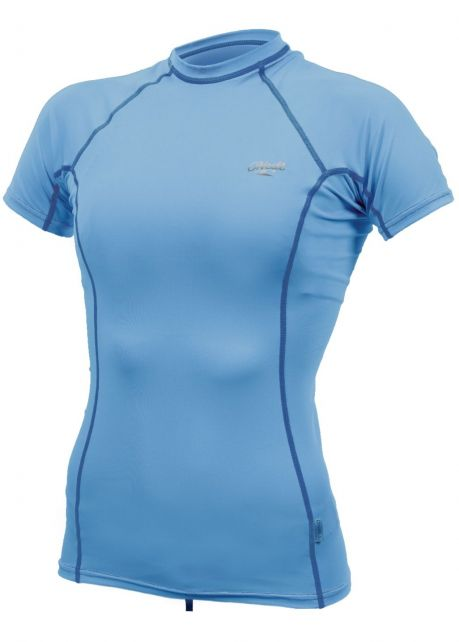 O'Neill---UV-Shirt-für-Damen---kurzärmlig---Premium-Rash---Perlmuttblau