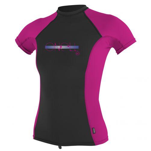O'Neill---UV-T-Shirt-für-Mädchen---Performance-fit---Pink-/-Schwarz