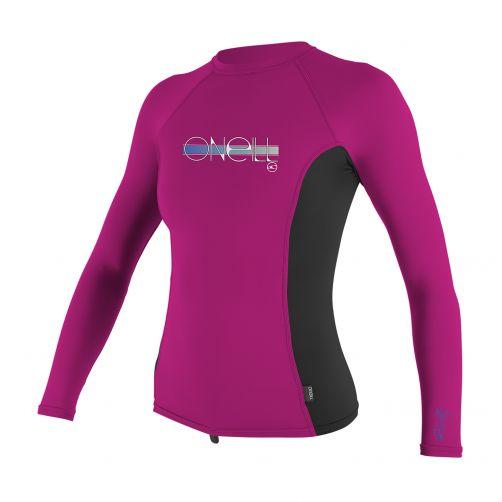 O'Neill---UV-Shirt-für-Mädchen---Langarm---Pink-/-Schwarz