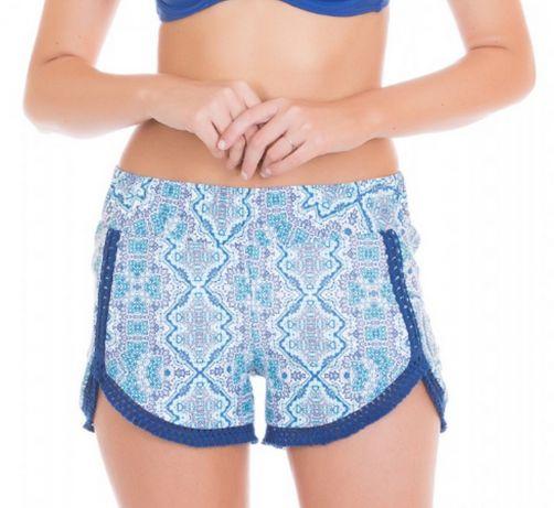 Cabana-Life---UV-Schutz-Shorts-für-Damen---Blau/Weiss
