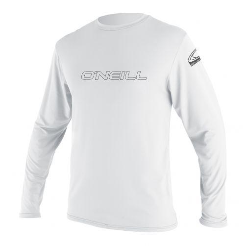 O'Neill---UV-Shirt-für-Herren---Langarm---Basic-Skins---Weiß