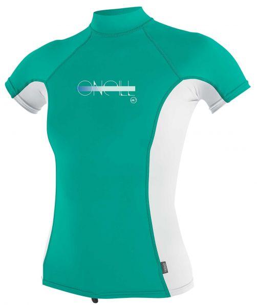 O'Neill---UV-Shirt-für-Mädchen-mit-Rollenhalsausschnitt---Premium-Rash---Baltischgrün