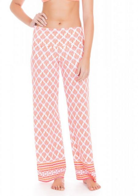 Cabana-Life---UV-Schutz-Strandhose-für-Damen---Orange/Weiss