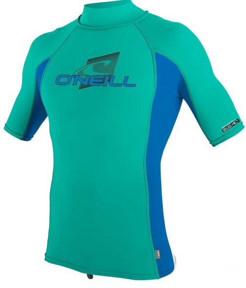 O'Neill---UV-Shirt-für-Kinder-mit-Rollenhalsausschnitt---Premium-Rash---Baltischgrün
