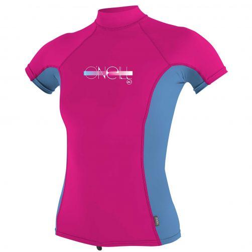 O'Neill---UV-Shirt-für-Mädchen-mit-Rollenhalsausschnitt---Premium-Rash---Beerenrosa