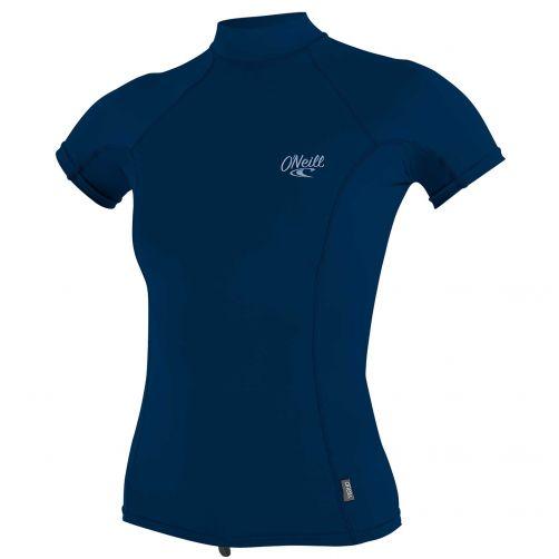 O'Neill---UV-Shirt-für-Damen-mit-Rollenhalsausschnitt---Premium-Rash---Tiefseeblau