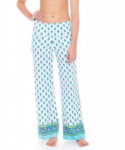 Cabana-Life---UV-Schutz-Strandhose-für-Damen---Grün/Weiss