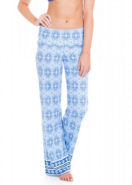 Cabana-Life---UV-Schutz-Strandhose-für-Damen---Blau/Weiss