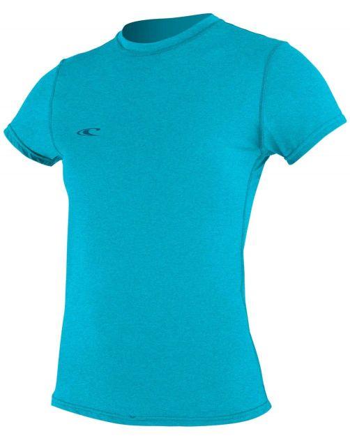 O'Neill---UV-Shirt-für-Damen---kurzärmlig---Hybrid-Sun---Türkis