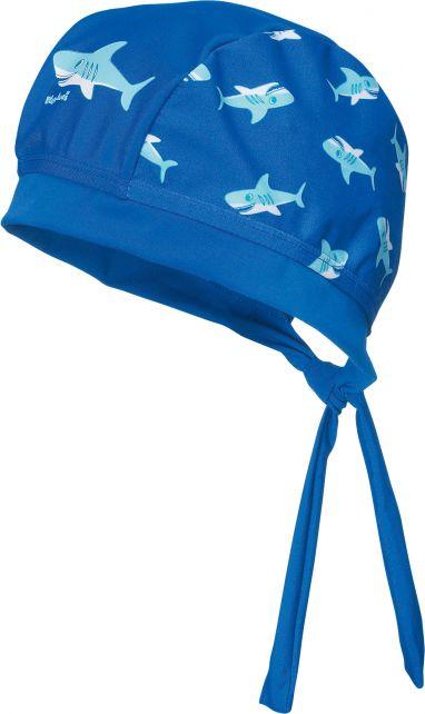 Playshoes---UV-Schwimmbandana-für-Kinder---Haifisch---Blau