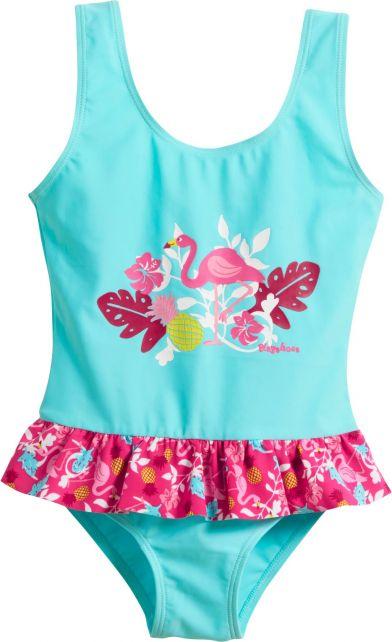 Playshoes---UV-Badeanzug-für-Mädchen--Flamingo---Türkis/Pink