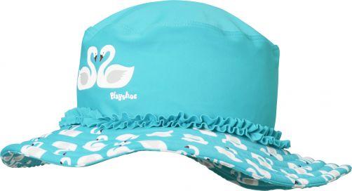 Playshoes---UV-Sonnenhut-für-Mädchen---Schwäne---Hellblau