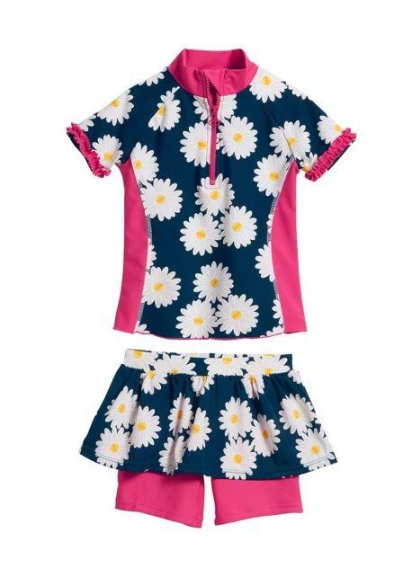 Playshoes---UV-Badeset-2-teilig---Margerite---Blau-/-Pink