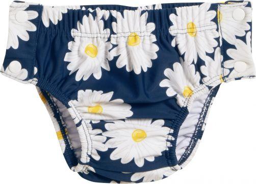 Playshoes---UV-Schwimmwindel-für-Mädchen---Margerite---Blau/Weiß