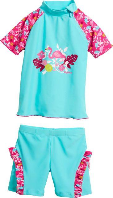 Playshoes---UV-Badeset-für-Mädchen--Flamingo---Türkis/Pink