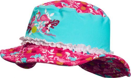 Playshoes---UV-Sonnenhut-für-Mädchen---Flamingo---Türkis-/-Pink