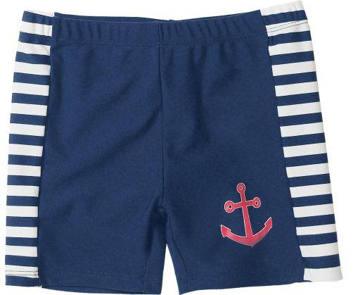 Playshoes---UV-Schwimmshort-für-Kinder---Maritim---Blau/Weiß