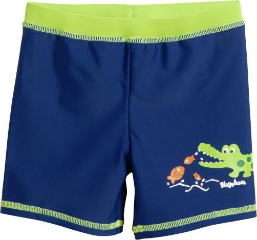Playshoes---UV-Schwimmshort-für-Jungen---Krokodil-Druck--Blau