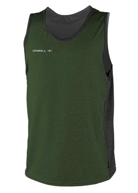 O'Neill---Tanktop-mit-UV-Schutz-für-Herren---Hybrid-Sun---Olivgrün
