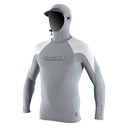 O'Neill---Kapuzen-UV-Shirt-für-Herren---Langarm---Grau