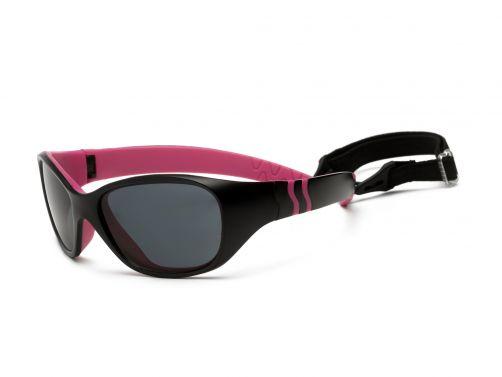 Real-Kids-Shades---UV-Sonnenbrille-für-Kinder---Schwarz-/-Pink