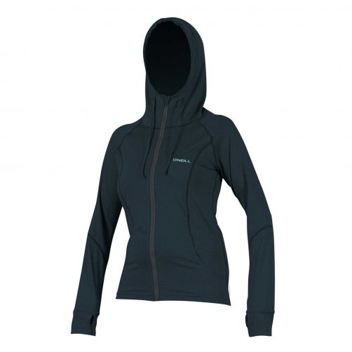 O'Neill---UV-Jacke-mit-Kapuze-für-Damen---Hybrid-Sun---Blaugrau