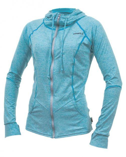 O'Neill---UV-Jacke-mit-Kapuze-für-Damen---Hybrid-Sun---Türkis