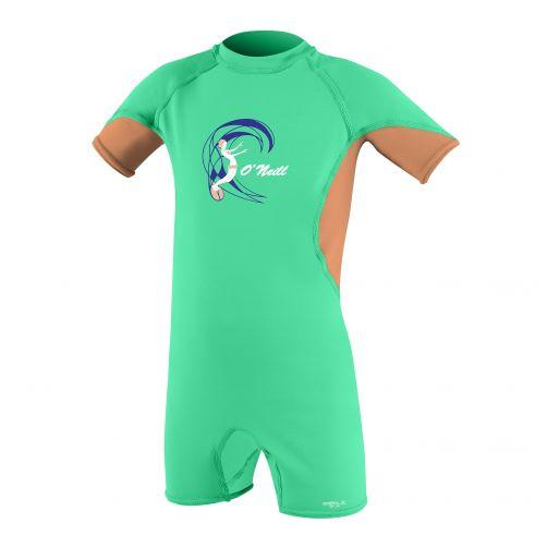 O'Neill---UV-Schwimmanzug-für-Mädchen---Slim-Fit---Grün-/-Orange