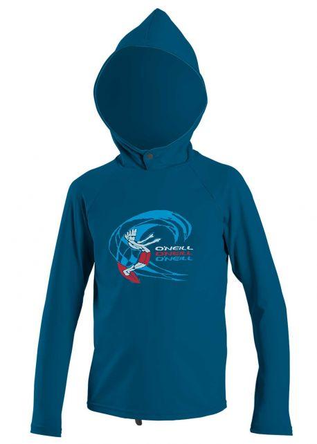 O'Neill---UV-Shirt-mit-Kapuze-für-Jungen---O'Zone-Sun---Blau