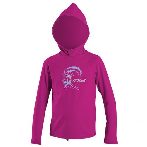 O'Neill---UV-Kapuzenshirt-für-Mädchen---langärmlig---Beere