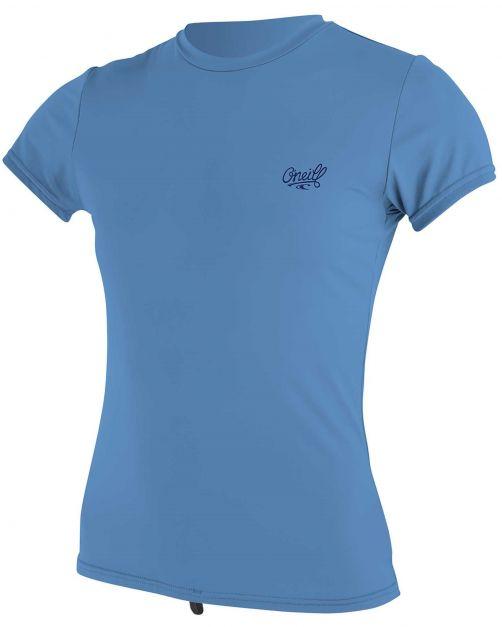 O'Neill---UV-Shirt-für-Damen---kurzärmlig---Premium-Sun---Perlmuttblau