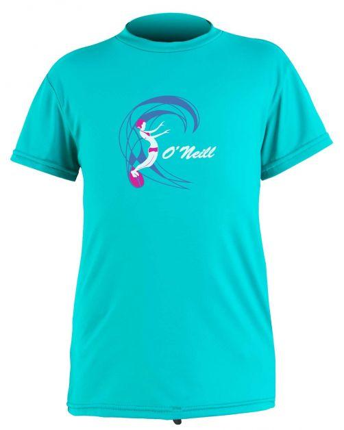 O'Neill---UV-Shirt-für-Mädchen---kurzärmlig---O'Zone-Sun---Helles-Aqua