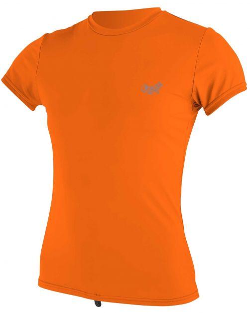 O'Neill---UV-Shirt-für-Damen---kurzärmlig---Premium-Sun---Papaya