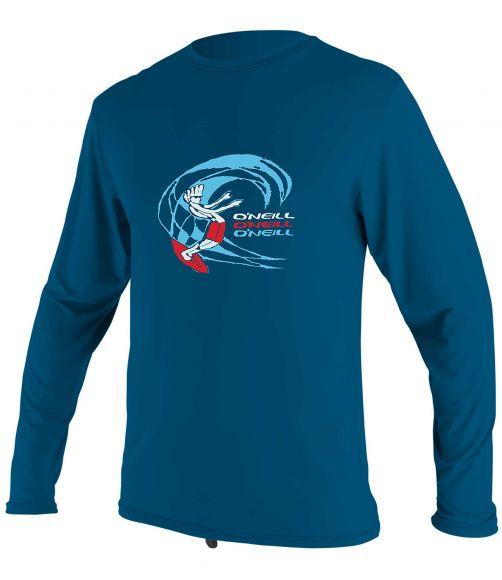 O'Neill---UV-Shirt-für-Jungen---langärmlig---O'Zone-Sun---Blau