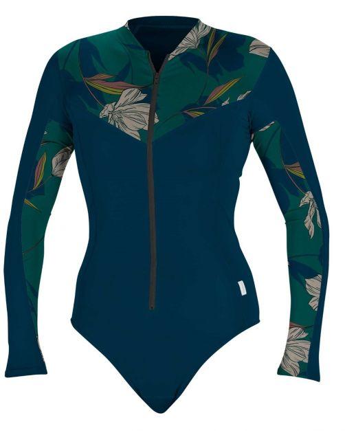 O'Neill---Badeanzug-mit-UV-Schutz-für-Damen---langärmlig---Marineblau