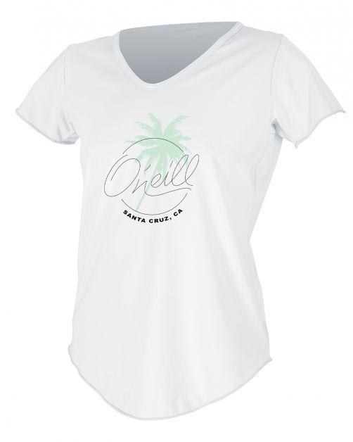 O'Neill---UV-Shirt-für-Damen---kurzärmlig---Graphic-Sun---Weiß