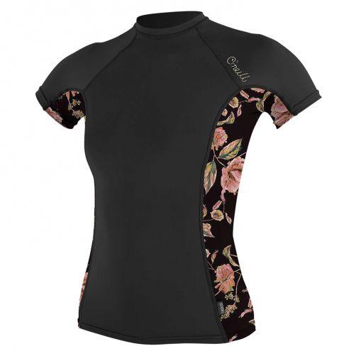 O'Neill---UV-Shirt-für-Damen---kurzärmlig---Rash-Guard---Schwarz