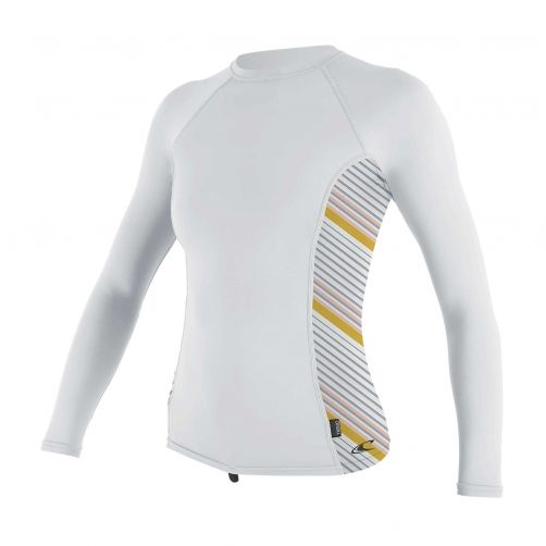 O'Neill---UV-Shirt-für-Damen---langärmlig---Rash-Guard---Weiß