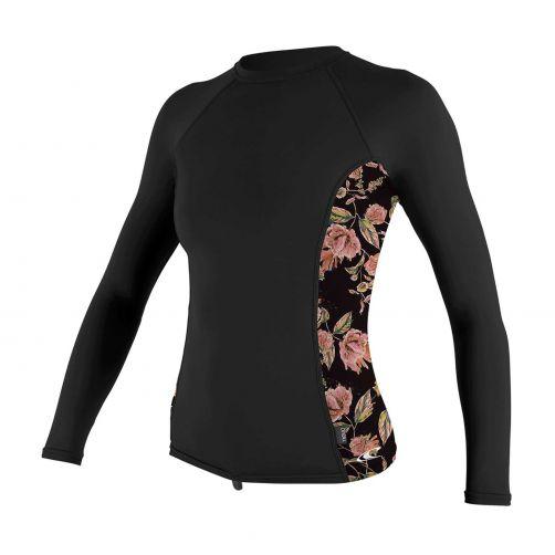 O'Neill---UV-Shirt-für-Damen---langärmlig---Rash-Guard---Schwarz