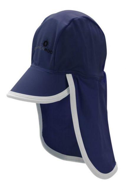 Snapper-Rock---UV-Schutz-Sonnenmütze-für-Baby-und-Kind---blau-weiß