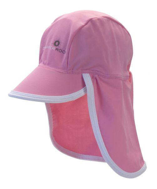 Snapper-Rock---UV-Schutz-Sonnenmütze-für-Baby-und-Kind---in-rosa-und-weiß
