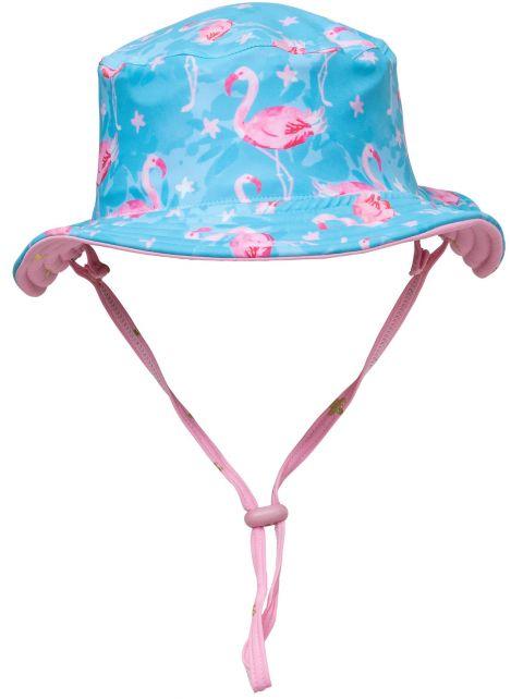 Snapper-Rock---UV-Bucket-Hut-umkehrbar---Flamingo-Star---Blau/Pink