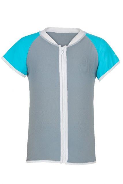 Snapper-Rock---UV-T-Shirt-mit-Reissverschluss-aqua-grau
