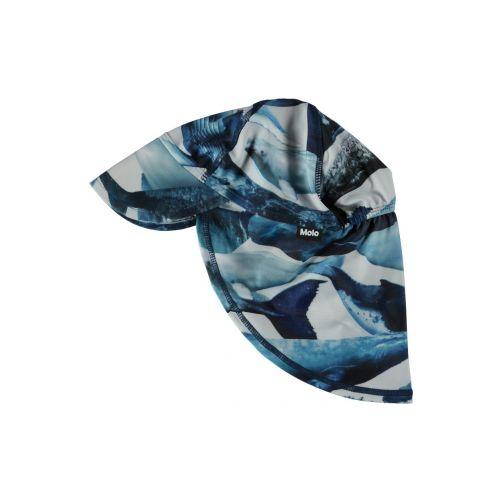 Molo---UV-Sonnenkappe-mit-Nackenschutz-für-Kinder---Nando---Whale-print