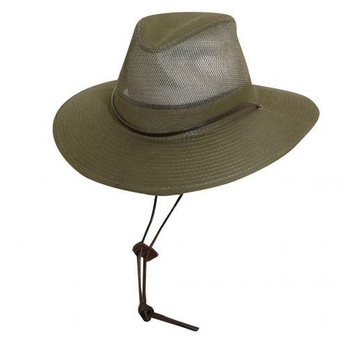 Dorfman-Pacific---UV-Schutz-Safari-Hut-für-Herren---Grün