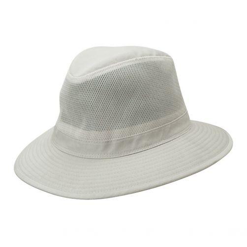 Dorfman-Pacific---UV-Schutz-ventilierender-Hut-für-Herren---Altweiß