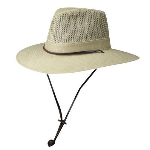 Dorfman-Pacific---UV-Schutz-ventilierender-Hut-für-Herren---Kamel